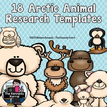 Arctic Animal Research Trifold BUNDLE