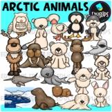 Arctic Animals Clip Art Bundle