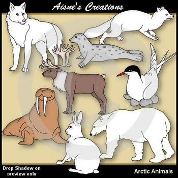 Arctic Animals Clip Art Pack