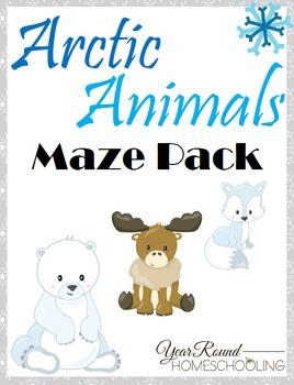 Arctic Animals Maze Pack