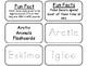 Arctic Animals Picture Word Flash Cards. Preschool flash c