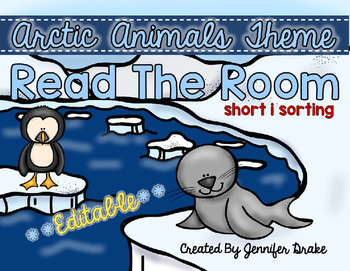 Arctic Animals Read the Room **EDITABLE**