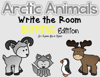 Arctic Animals Write the Room - Rhyming Edition