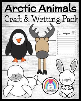 Winter / Arctic Animal Craft and Writing Pack: Hare, Carib