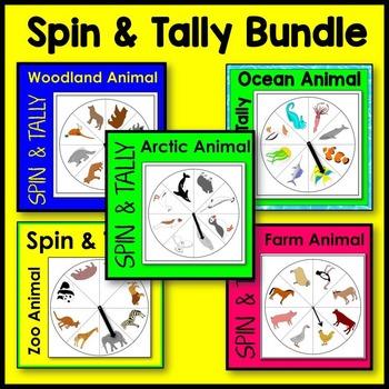 Animal Spin and Tally BUNDLE (arctic, farm, ocean, woodlan