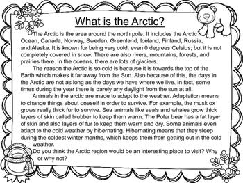 Arctic Habitat Nonfiction Passage