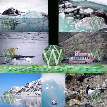 Arctic: Svalbard, Norway - Polar Bear, Landscape, Glacier,
