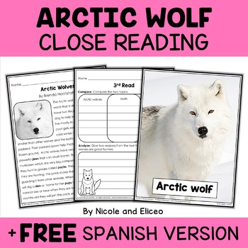 Close Reading Arctic Wolf Activities
