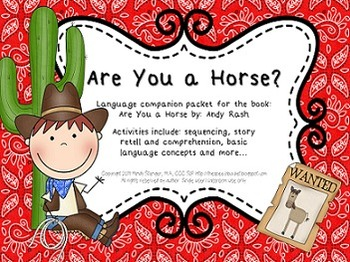 Are You A Horse? – Speech and Language Activities (Cowboy-