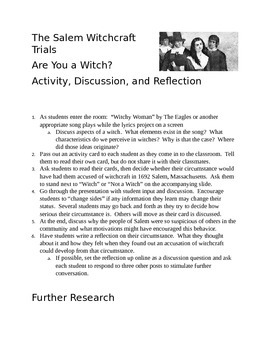 Are You A Witch? The Salem Witchcraft Trials