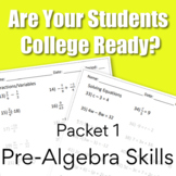 Are You College Ready? Packet 1 - Pre-Algebra {TSI/Accuplacer}