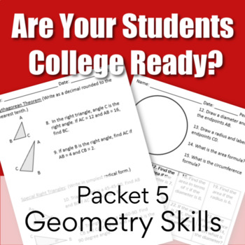 Are You College Ready? Packet 5 - Geometry Skills (TSI/Acc