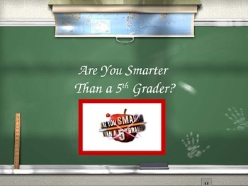 Are You Smarter Than A 5th Grader Review Game- The Colonies