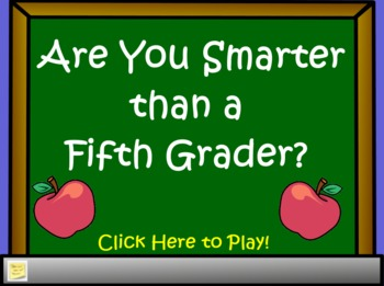 Are You Smarter Than a 5th Grader Flipchart Template