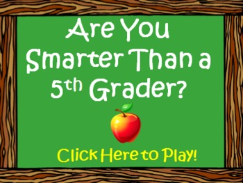 Are You Smarter Than a Fifth 5th Grader PowerPoint Template