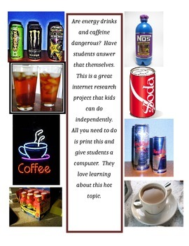 Are energy drinks and caffeine dangerous?  Guided internet