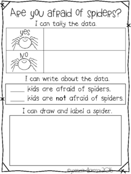 Are you afraid of spiders recording sheet