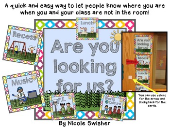 Are you looking for us? We are at... (class locator)