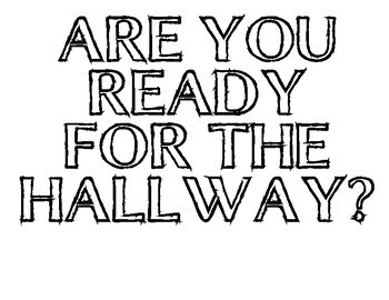 Are you ready for the hallway posters!