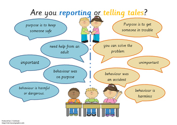 Are you reporting or telling tales?