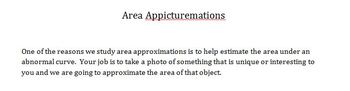 Area Approximation Project