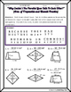 Area -  Area of Trapezoids and Rhombi Riddle Worksheet