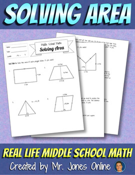 Area Assignment: Real Life Middle School Math