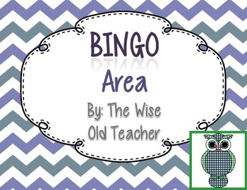 Area Bingo Game PPT with Blank Bingo Cards 3.MD.C.6,3.MD.C