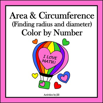 Area & Circumference (Finding Radius and Diameter) Color b