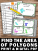 Find the Area of Shapes 3rd or 4th Grade Common Core Math Games