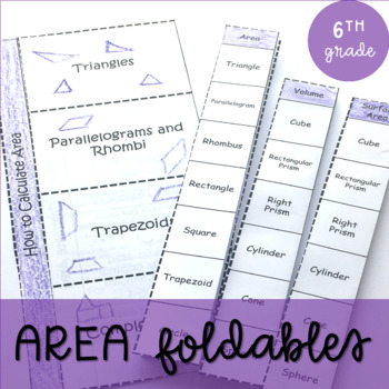 Area Foldable (Aligned to CCSS 6.G.1)