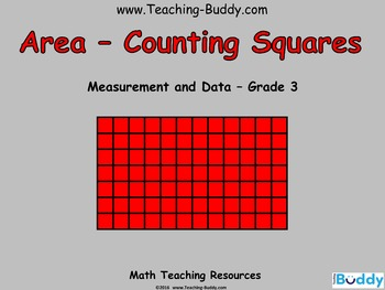 Area - Grade 3 (PowerPoint and worksheet)