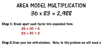 Area Model Multiplication: Step-by-Step Handout