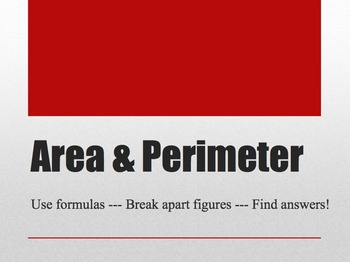Area & Perimeter Power Point