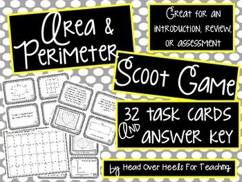 Area & Perimeter Scoot Game {Task Cards}