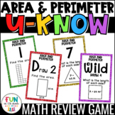 Area & Perimeter U-Know Game for Math Centers or Stations