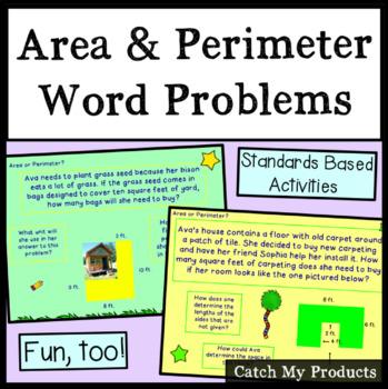 Area & Perimeter Word Problems of Irregular Shaped Rectang