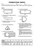 Area & Perimeter Worksheet With Original Artwork - Endange