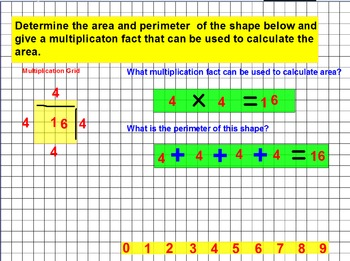 Area, Perimeter and Practicing Multiplication with an Array