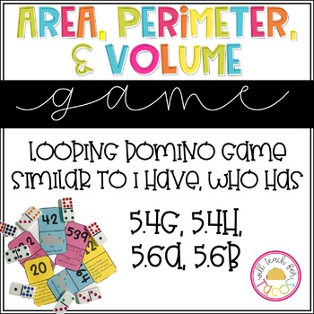 Area, Perimeter, and Volume Looping Game