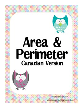 Area & Perimeter - posters, worksheets, test, task cards (