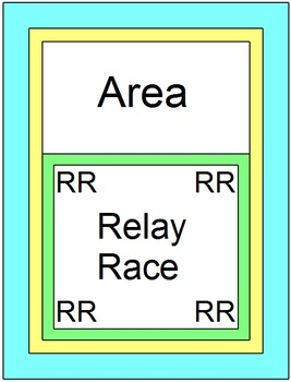 Area - RELAY RACE Game (14 rounds of 4 problems per page)