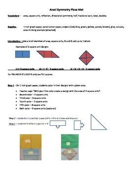 Area, Symmetry, Art design Placemat