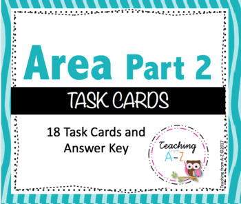 Area Task Cards Part II