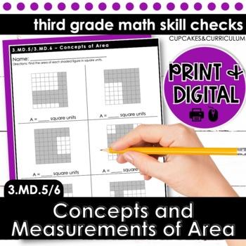 Area - Third Grade Print and Go