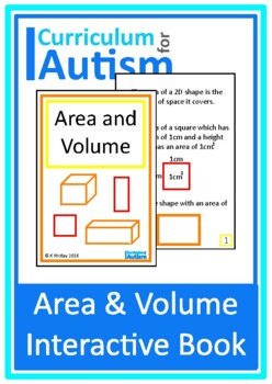 Area & Volume Interactive Adapted Math Book, Autism, Speci