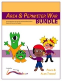 Perimeter and Area War Math Game – BUNDLE – Common Core Aligned