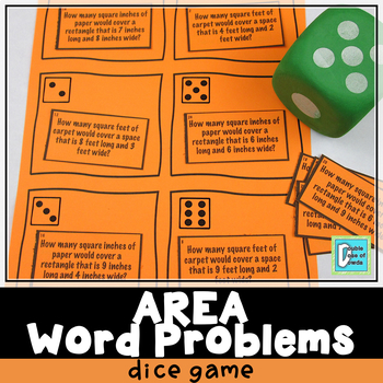 Area Word Problems Roll & Play