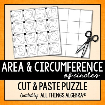 Area and Circumference of Circles Puzzle