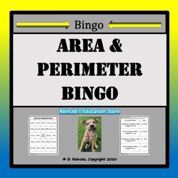 Area and Perimeter Bingo (30 pre-made boards!)